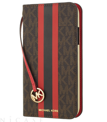 Folio Case Red Stripe with Charm